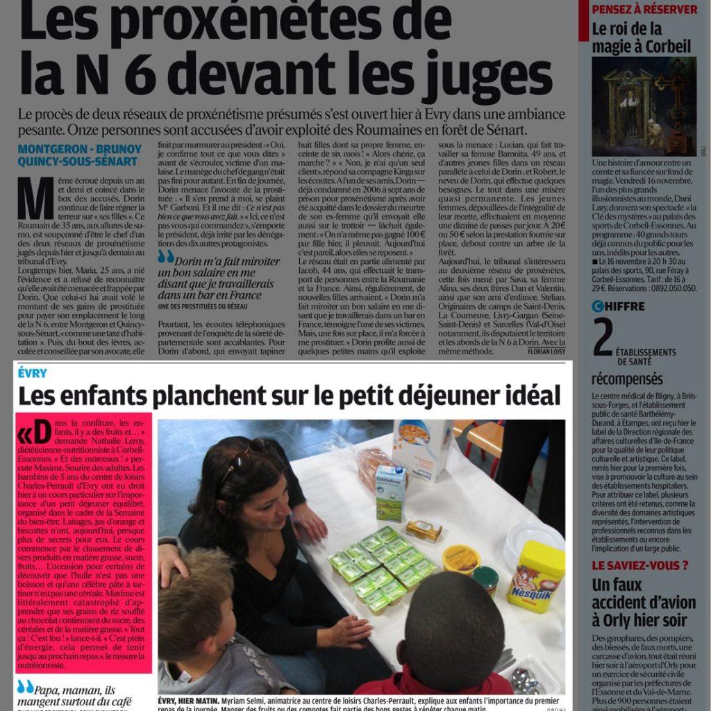Essonne Matin - Jeudi 25 Octobre 2012